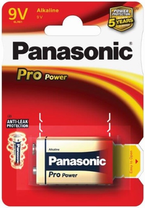 9V paristo Pro Power 6LR61 Panasonic