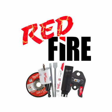 Red Fire Milwaukee tarvikkeet -30%