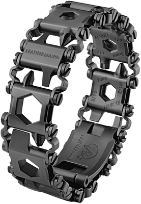 Ohut työkaluranneke Leatherman Tread LT Black Metric